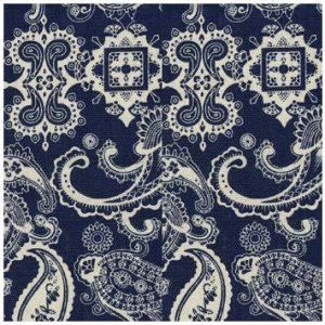 KKOC-PABW 佩斯利-藍色和白色