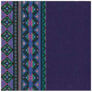 KKOC-PGEO 幾何紡織設計-紫色和綠色